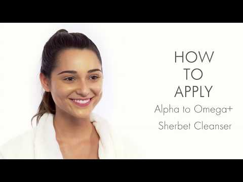How to Apply Ebanel Alpha to Omega+ Sherbet Cleanser