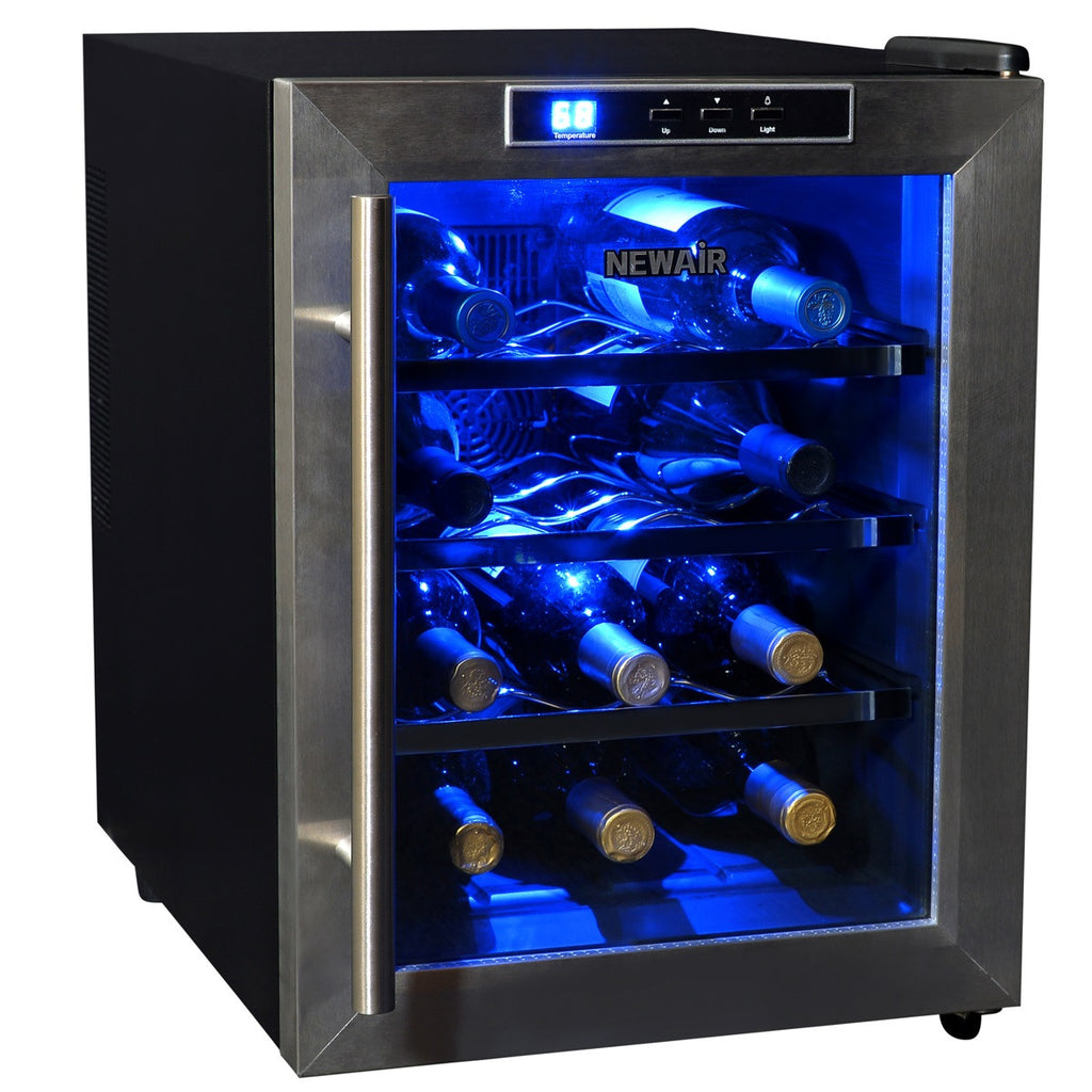 12 Bottle Wine Fridge Part - 20: NewAir AW-121E 12 Bottle Thermoelectric Wine Cooler