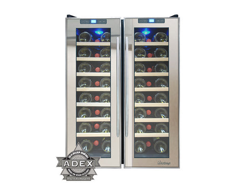 46-Bottle Dual-Zone Connoisseur Series Wine Cooler Image