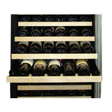 Vinotemp 160 Bottle Dual Zone Wine Cooler (Black/Metal)