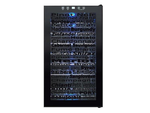 34 Bottle Touch Screen Wine Cooler w/ Decorative Door