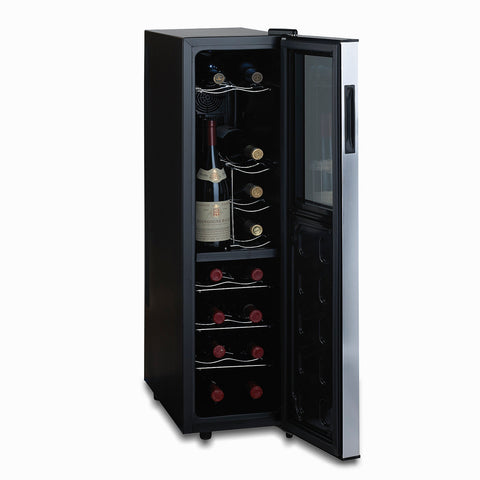 Wine Enthusiast Silent 18 Bottle Dual Zone Wine Refrigerator