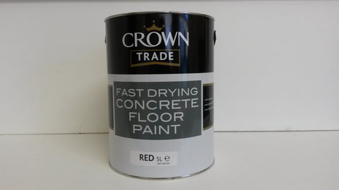 Crown trade concrete floor paint 5 litre