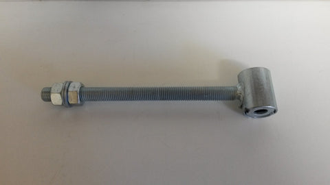 Gate hanger with threaded bolt