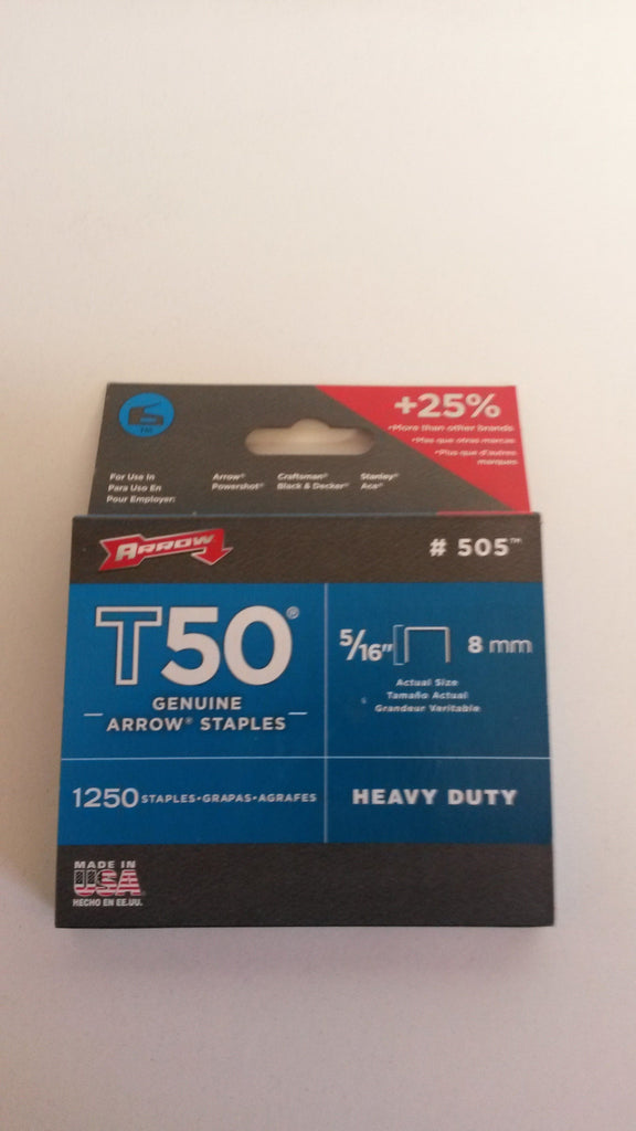 Arrow t 50 staples 8mm