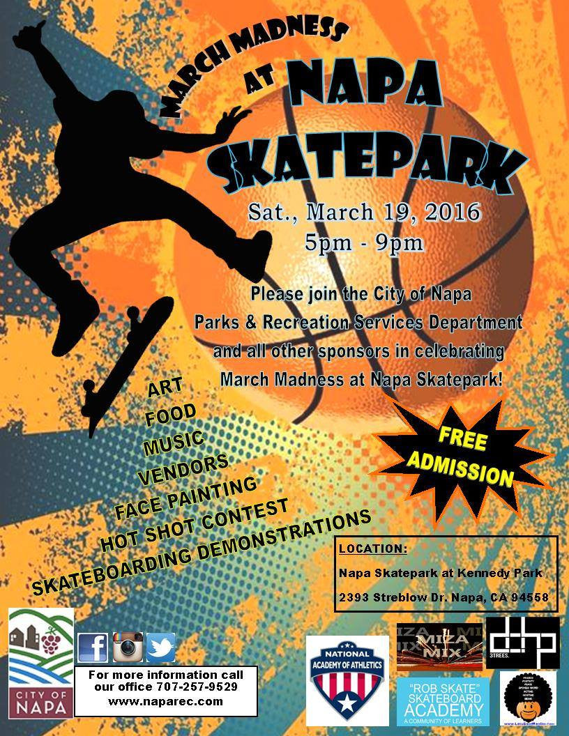 March Madness at Napa Skatepark