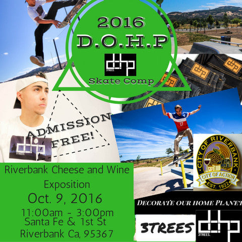 2ND ANNUAL DOHP 3TREES TOUR: OCTOBER 9, 2016 @ RIVERBANK SKATEPARK