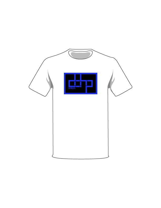 The Blue / White / Extra Small ColorMeDOHP Custom Tree-Shirts (Black Background): one of the Tree-Shirts by DOHP, get it now from the Decorate Our Home Planet Store! We plant 3 Trees for every item sold! - 10