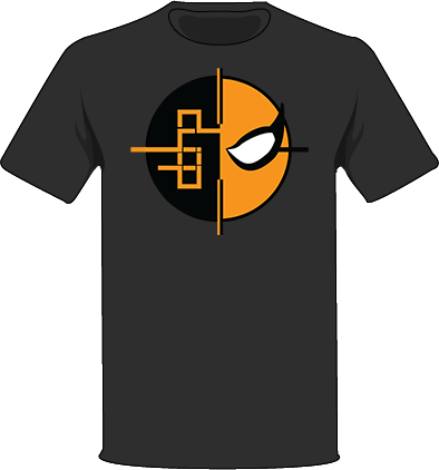 The Black / Extra Small Homage to Deathstroke Tree-Shirts (New!): one of the Tree-Shirts by DOHP, get it now from the Decorate Our Home Planet Store! We plant 3 Trees for every item sold! - 4