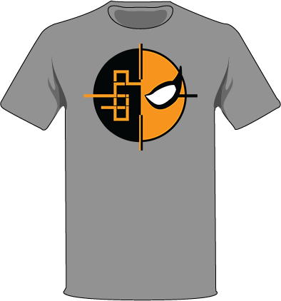 The Gray / Extra Small Homage to Deathstroke Tree-Shirts (New!): one of the Tree-Shirts by DOHP, get it now from the Decorate Our Home Planet Store! We plant 3 Trees for every item sold! - 3