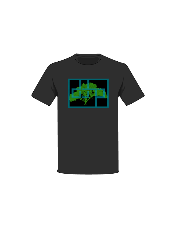 The Black / Small Digital Tree-Shirts: one of the Tree-Shirts by DOHP, get it now from the Decorate Our Home Planet Store! We plant 3 Trees for every item sold! - 7