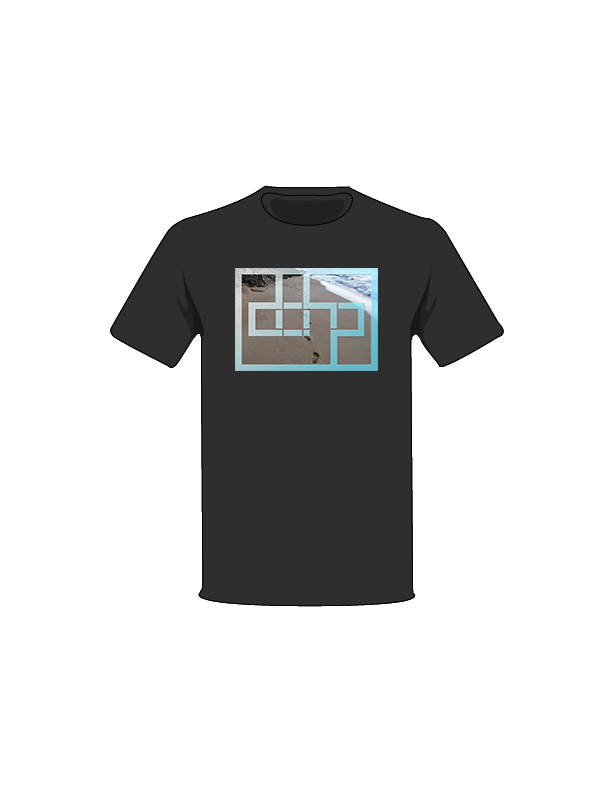 The Black / Medium Footsteps Tree-Shirt: one of the Tree-Shirts by DOHP, get it now from the Decorate Our Home Planet Store! We plant 3 Trees for every item sold! - 7