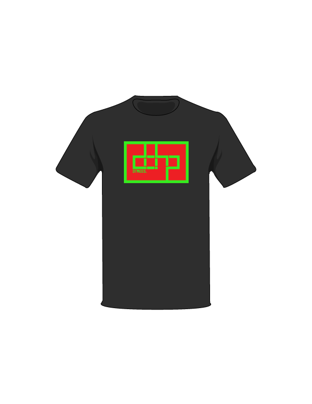 The Green / Black / Small ColorMeDOHP Custom Tree-Shirts (Red Background): one of the Tree-Shirts by DOHP, get it now from the Decorate Our Home Planet Store! We plant 3 Trees for every item sold! - 9