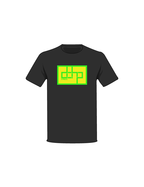 The Green / Black / Small ColorMeDOHP Custom Tree-Shirts (Yellow Background): one of the Tree-Shirts by DOHP, get it now from the Decorate Our Home Planet Store! We plant 3 Trees for every item sold! - 9