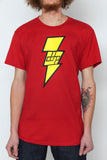 The Red / Extra Small Homage to Shazam! Tree-Shirt (New!): one of the Tree-Shirts by DOHP, get it now from the Decorate Our Home Planet Store! We plant 3 Trees for every item sold! - 1