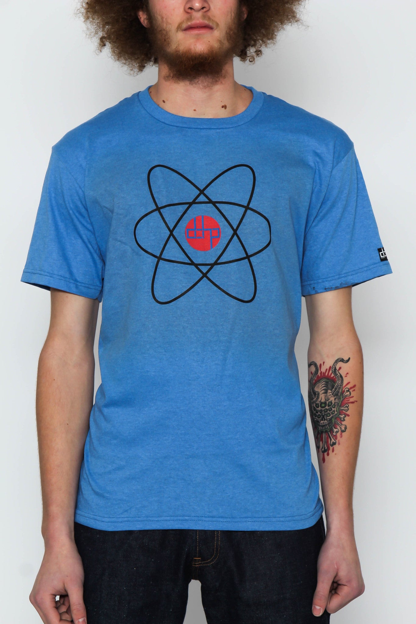 The Blue / Extra Small Homage to The Atom Tree-Shirt (New!): one of the Tree-Shirts by DOHP, get it now from the Decorate Our Home Planet Store! We plant 3 Trees for every item sold! - 1