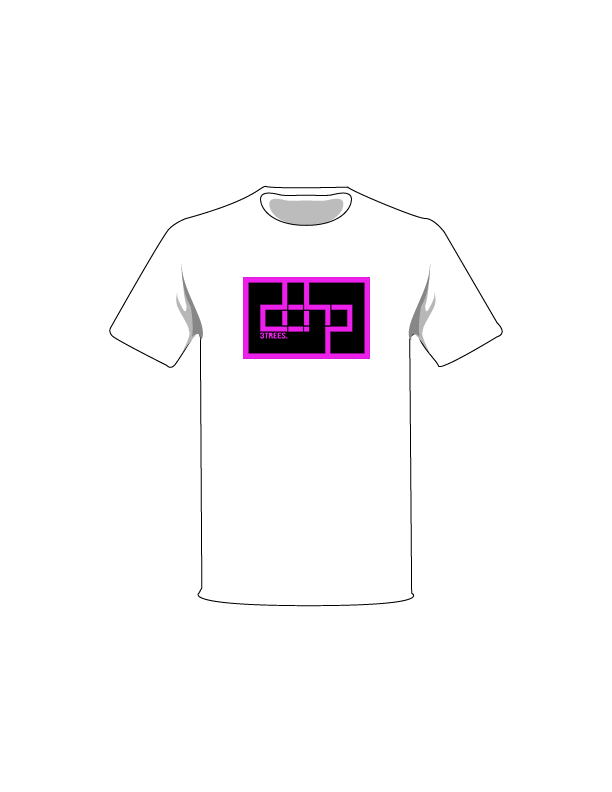The Magenta / White / Extra Small ColorMeDOHP Custom Tree-Shirts (Black Background): one of the Tree-Shirts by DOHP, get it now from the Decorate Our Home Planet Store! We plant 3 Trees for every item sold! - 16