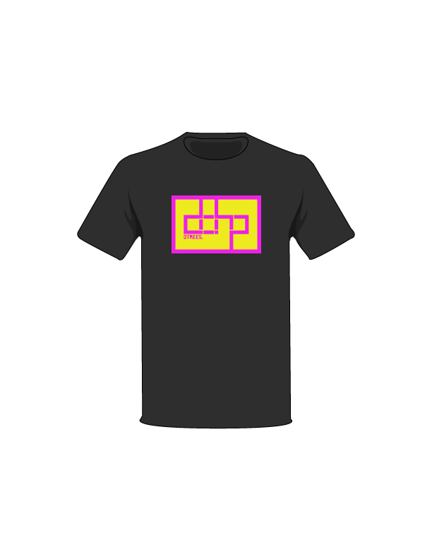 The Magenta / Black / Small ColorMeDOHP Custom Tree-Shirts (Yellow Background): one of the Tree-Shirts by DOHP, get it now from the Decorate Our Home Planet Store! We plant 3 Trees for every item sold! - 17