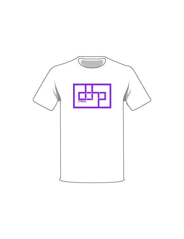 The Purple / White / Medium ColorMeDOHP Custom Tree-Shirts (White Background): one of the Tree-Shirts by DOHP, get it now from the Decorate Our Home Planet Store! We plant 3 Trees for every item sold! - 7