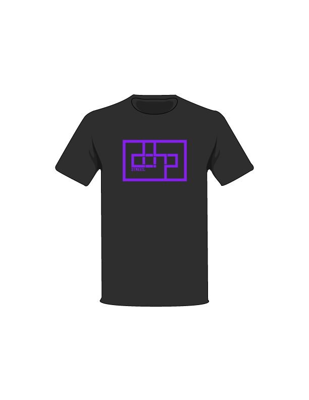 The Purple / Black / Small ColorMeDOHP Custom Tree-Shirts (Black Background): one of the Tree-Shirts by DOHP, get it now from the Decorate Our Home Planet Store! We plant 3 Trees for every item sold! - 13