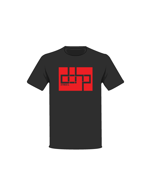 The Black / Black / Small ColorMeDOHP Custom Tree-Shirts (Red Background): one of the Tree-Shirts by DOHP, get it now from the Decorate Our Home Planet Store! We plant 3 Trees for every item sold! - 3