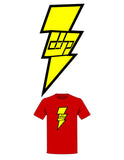 The  Homage to Shazam! Tree-Shirt (New!): one of the Tree-Shirts by DOHP, get it now from the Decorate Our Home Planet Store! We plant 3 Trees for every item sold! - 2