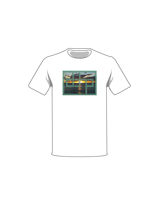 The White / Extra Small Sunset 4 Tree-Shirts: one of the Tree-Shirts by DOHP, get it now from the Decorate Our Home Planet Store! We plant 3 Trees for every item sold! - 2