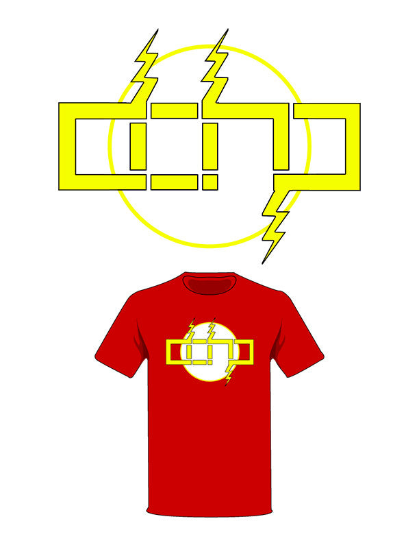 The  Homage to The Flash Tree-Shirt (New!): one of the Tree-Shirts by DOHP, get it now from the Decorate Our Home Planet Store! We plant 3 Trees for every item sold! - 2