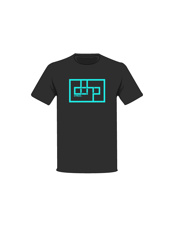The Turquoise / Black / Small ColorMeDOHP Custom Tree-Shirts (Black Background): one of the Tree-Shirts by DOHP, get it now from the Decorate Our Home Planet Store! We plant 3 Trees for every item sold! - 15