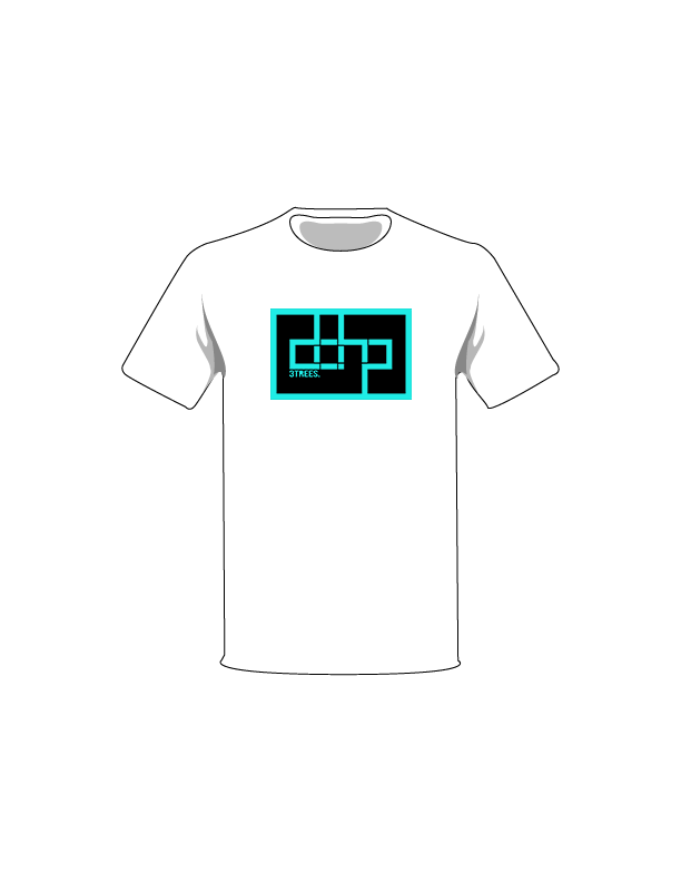 The Turquoise / White / Extra Small ColorMeDOHP Custom Tree-Shirts (Black Background): one of the Tree-Shirts by DOHP, get it now from the Decorate Our Home Planet Store! We plant 3 Trees for every item sold! - 14