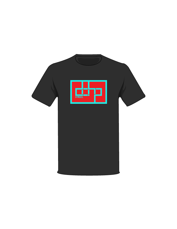 The Turquoise / Black / Small ColorMeDOHP Custom Tree-Shirts (Red Background): one of the Tree-Shirts by DOHP, get it now from the Decorate Our Home Planet Store! We plant 3 Trees for every item sold! - 15