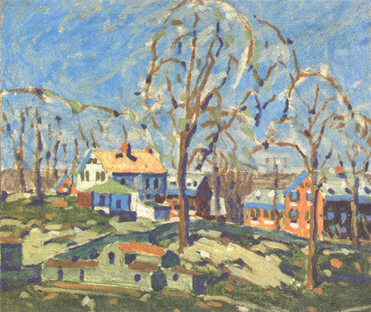 Houses in Sunlight - small reproduction - David Milne