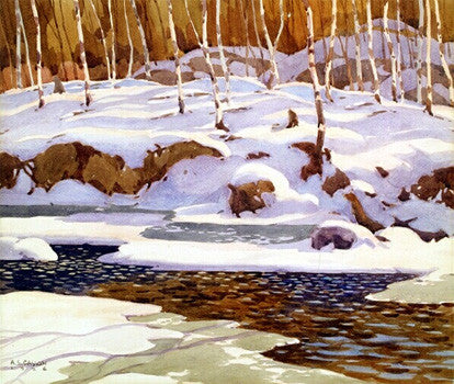 Winter On the Don - large reproduction - A.J. Casson