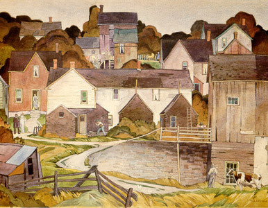 Saturday Afternoon - small reproduction - A.J. Casson