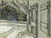 Side Door, Clarkes House - small reproduction - David Milne