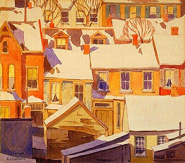 Housetops In the Ward - note card - A.J. Casson