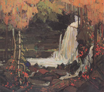 Woodland Waterfall - large reproduction