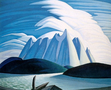 Lake and Mountains - large reproduction