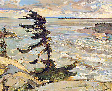 Stormy Weather, Georgian Bay - small reproduction - F.H. Varley