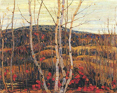 Maple and Birches - large reproduction