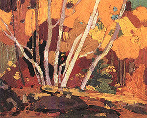 Autumn Birches - art card