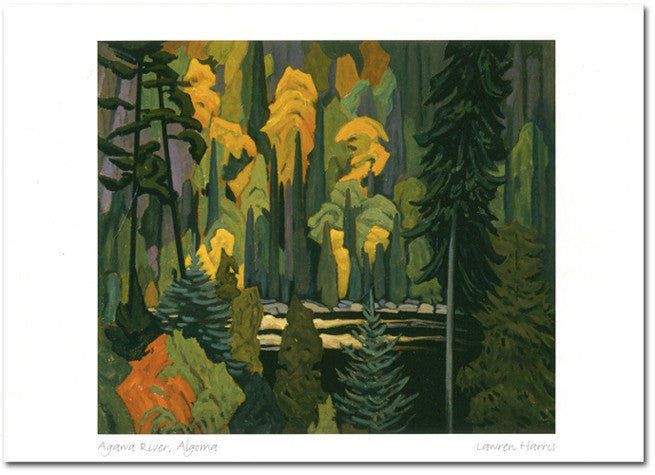 Agawa River, Algoma - art card