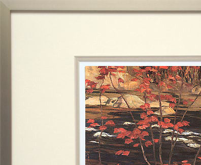 The Red Maple - framed art card - A.Y. Jackson
