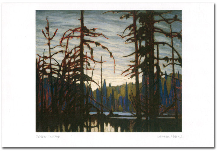 Beaver Swamp - Lawren Harris - art card