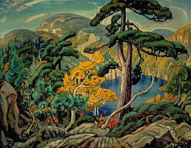 Bright Land - post card - Arthur Lismer
