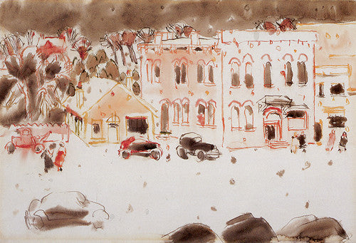Winter Comes Softly - note card - David Milne