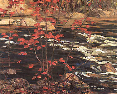 The Red Maple - small reproduction - A.Y. Jackson