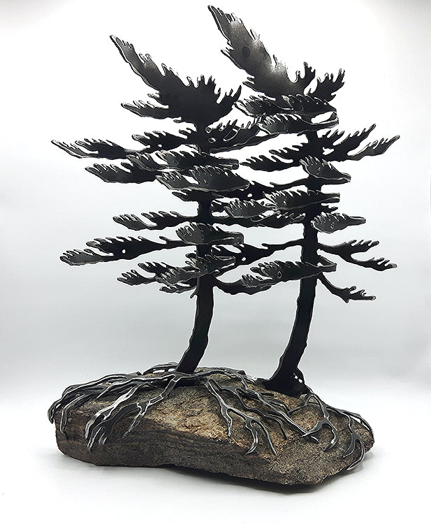 Windswept Pines Steel Sculpture