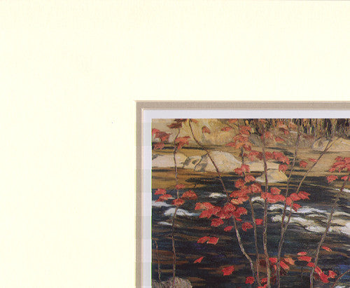 The Red Maple - art card in matt - A.Y. Jackson
