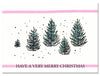 5 Christmas Trees Notecard by Jack Bush